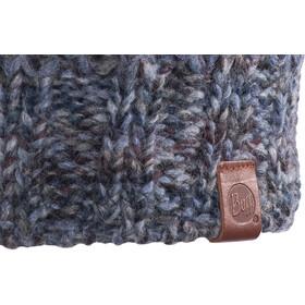 Buff Margo Gebreide & Fleeceband Muts Dames, blue